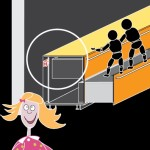 Cucina con basi fissate alla parete tramite apposite squadrette antiribaltamento. Anche se un bambino sale sui cestoni aperti, la cucina rimane ancorata alla parete.