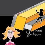 Le isole di lavoro a centro stanza devono essere fissate al pavimento tramite squadrette antiribaltamento fornite in dotazione con la cucina. Ciò è indispensabile per evitare che, se i bambini si dovessero arrampicare sui cestoni aperti della cucina, essa si rovesci.